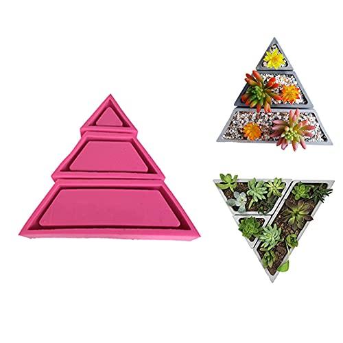 Stampo in silicone, 3 pezzi trapezoidale geometrico fai da te in calcestruzzo per vaso di fiori in gesso cemento fioriera in resina stampi artigianato piante vaso stampi