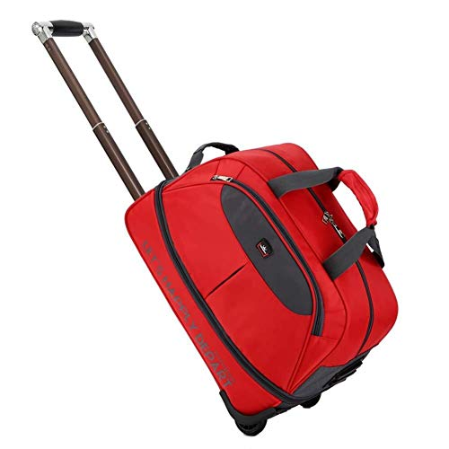 Rolling Ladies Unisex, Reisetasche, Handgepäck FENGMING (Color : Red, Size : 48 * 28 * 30cm)