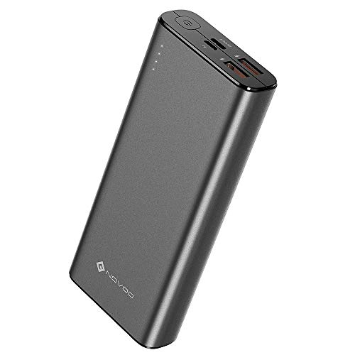 NOVOO 20000mAh Powerbank 3 Ausgänge USB C 18W Power Delivery & 2 Fast Charge USB-A Ports Power Bank für Handy iPhone 6 7 X 8 Plus XS XR Samsung Galaxy S8 S9 Huawei P20 iPad Switch