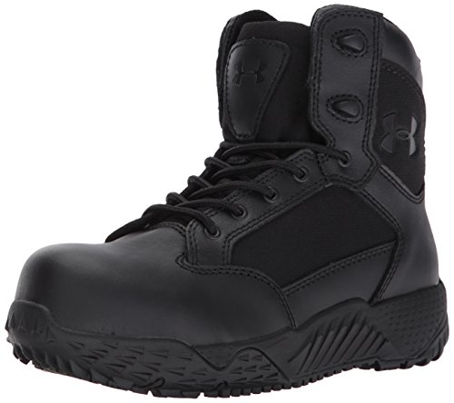 Under Armour Women's Stellar Protect Military and Tactical Boot, Black (001)/Black, 9