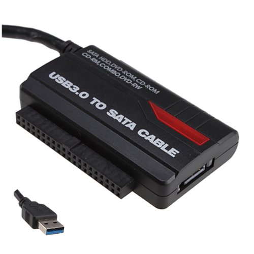 """SATA/IDE Hard Drive to USB 3.0/ 2.0 Adapter Cable - Supports 2TB IDE/SATA HDD, 2.5""""/3.5"""" HDD, CD/DVD-ROM, CD/DVD-RW, Combo"""