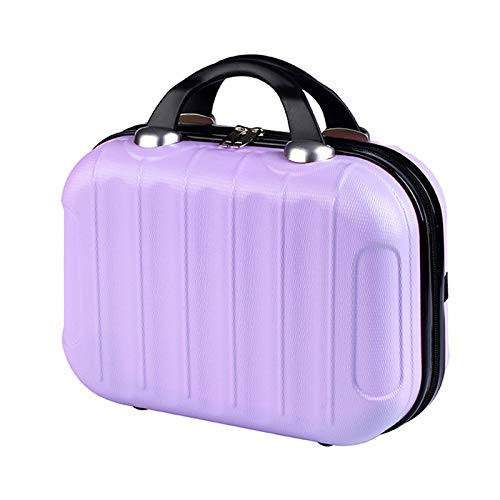 zyl Mini Cosmetic Bag,Suitcase,ABS Hard Shell Beauty Vanity Make Up Case,Travel Handbag Luggage Bag,J-14inch