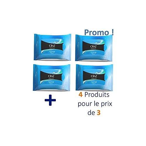 Olaz - 80 Lingettes Démaquillantes Essentiels - 4 Pack De 20