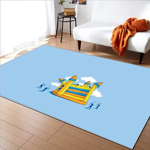 Feidaeu Wohnzimmer Teppiche Moderne nordische Hallenteppiche Saugfähige rutschfeste Shaggy Parlour-Decke Rechteckige Kaffeetisch-Fußmatten