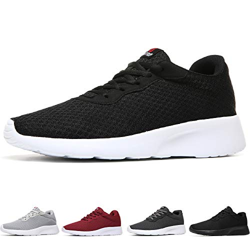 MAIITRIP Men's Running Shoes Sport Athletic Sneakers,Black White,Size 10