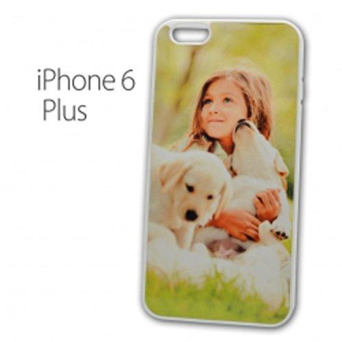 Sticker Design Shop iPhone 6 Plus / 6S Plus mobiele telefoon hoes shell cover case gepersonaliseerde beschermhoes individueel bedrukt met uw gewenste fotologo motieven tekst, Kleur rand: wit.