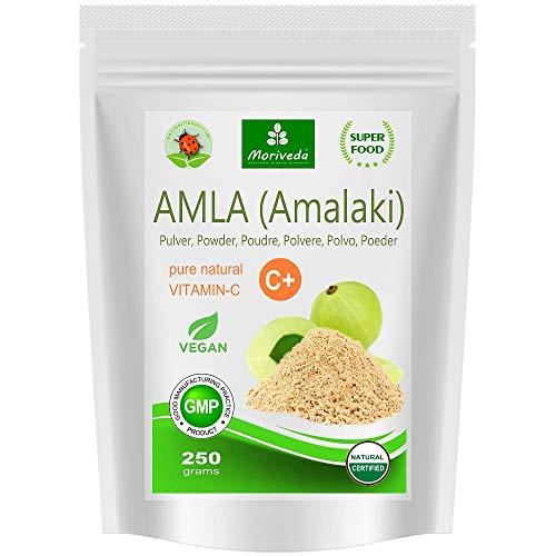Amla-poeder (250g) vitaminebom premium kwaliteit - 100% natuurlijk product met vitamine C, chroom, mineralen, eiwitten en B-vitamines. Immuunsysteem, antioxidant (250g zip-pouch)