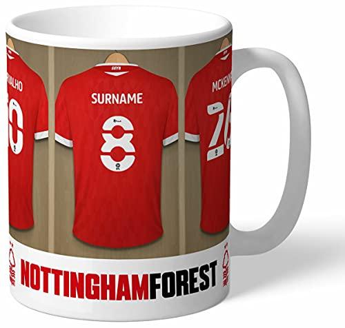 Personalised Nottingham Forest FC Dressing Room Shirts Mug
