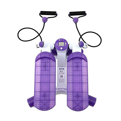 Fitness Mini Stepper Trainingsgeräte Aerobic-Training Kalorien verbrennen Multifunktions-Schrittmaschine mit Widerstandsbändern Haushalts-Fitnessstudio, Fettverbrennung