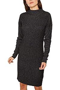 ESPRIT Damen 119EE1E006 Kleid, Schwarz (Black 2 002), Medium (Herstellergröße: M)