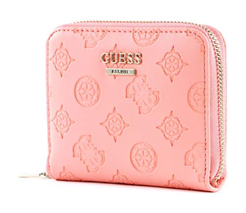 Guess Dayane SLG Small Zip Around Wallet Coral