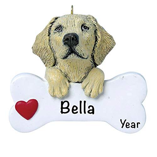 Dog Christmas Tree Ornaments 2020 – Personalized Dog Ornaments for Christmas Tree – Polyresin Yellow Labrador Dog Christmas Ornaments, Yellow Labrador Dog Ornament – Yellow Labrador Gifts