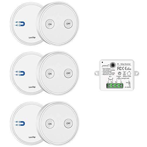 Interruptor de luz con mando a distancia (tres mandos a distancia con un receptor).