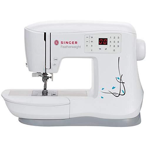 Singer 230144001 Featherweight C240 - Máquina de coser (plástico, 43 x 23 x 32 cm), color blanco