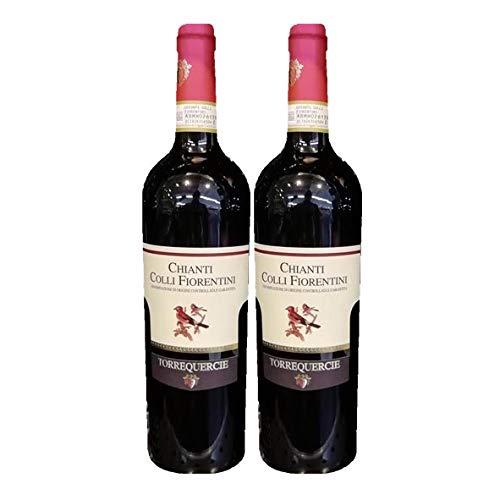 2x Vino Tinto Chianti DOCG Colli Fiorentini, cl75 Cantine Collequercie, regione Toscana, Italy