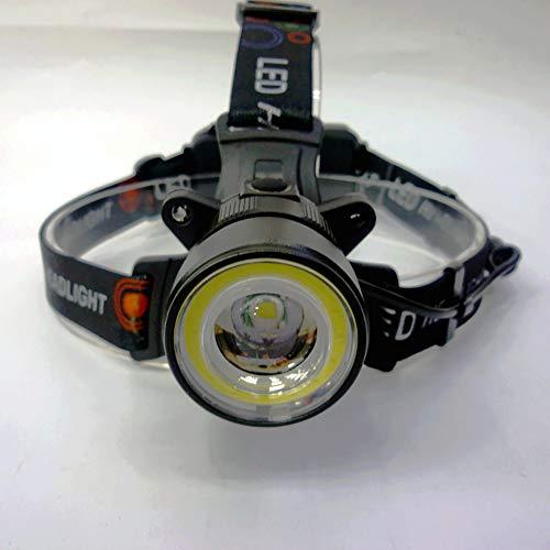 Proyector de LED super brillante faro 6000LM IPX4 impermeable con el sensor 90 ° 4 modos de lámpara de cabeza ajustable recargable USB para hacer footing que va de excursión con 2 piezas 18650