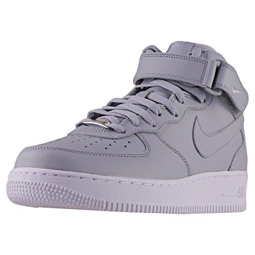 Nike Herren Air Force 1 Mid '07 Le Basketballschuhe, Grau (Wolf Grey/Wolf Grey/White 046), 46 EU
