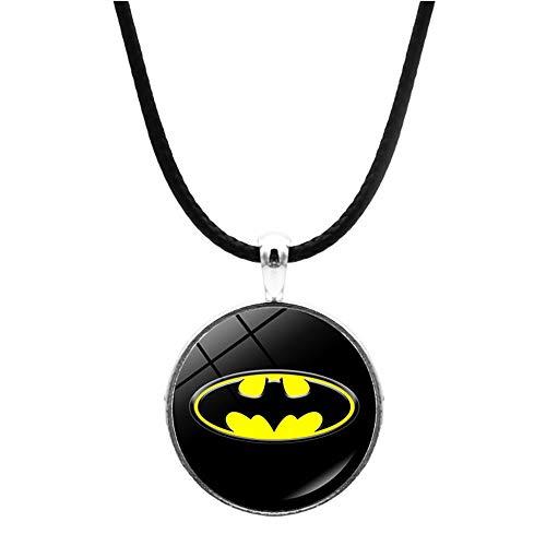 WooMax - Collana con ciondolo a forma di Batman per uomo e ragazzo