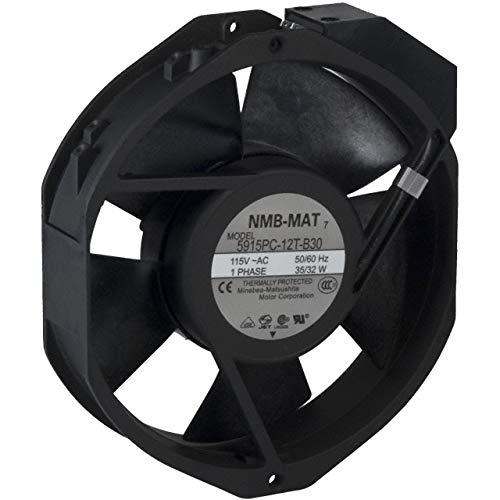 5915PC-12T-B30-A00, AC Fan Axial Ball Bearing 115V 176.5CFM/212CFM 52dB/56dB 150 X 172 X 38mm