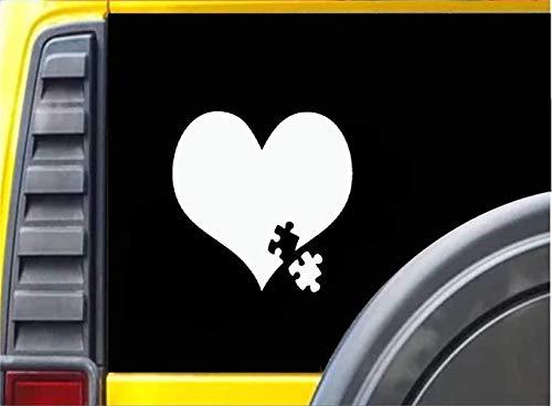 DKISEE Autisme Bewustzijn Hart Puzzel Auto Decal, 6 Inch Vinyl Decal voor Auto Bumper Truck Venster Muren Laptop Sticker