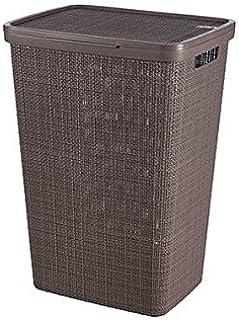 CURVER Coffre A Linge Jute 58L, Marron, 70% Recyclé