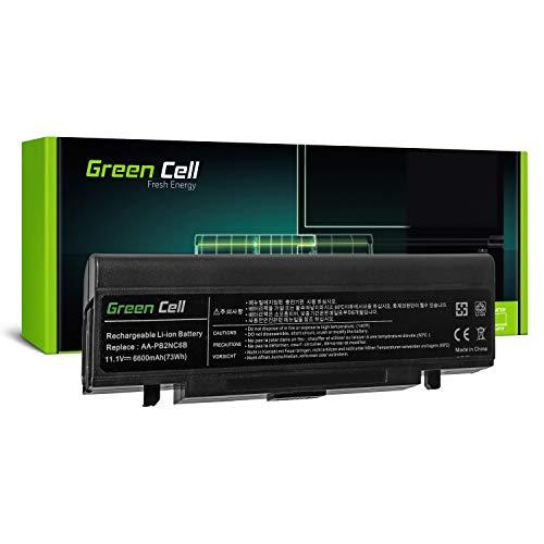Green Cell® AA-PB2NC6B AA de pb2nx6W AA de AA-PB4NC6B Laptop Batería para Samsung E15M60P50P500Q210R40R45R65X60X360 Negro Negro Extended - Green Cell Zellen 6600 mAh