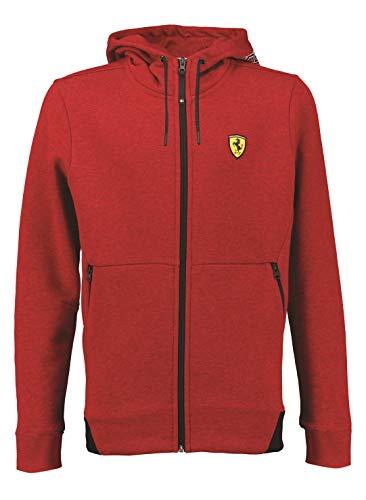 Ferrari - Sudadera para adulto con cremallera y capucha rojo XS