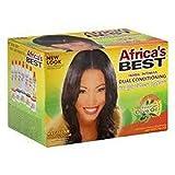 Africa's Best - Sistema dual de acondicionador y relajante sin lejía, 1 aplicación (alisado del cabello)