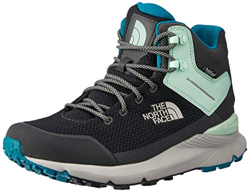 The North Face Women's Vals Mid Waterproof, Ebony Grey/Micro Chip Grey, 8 M
