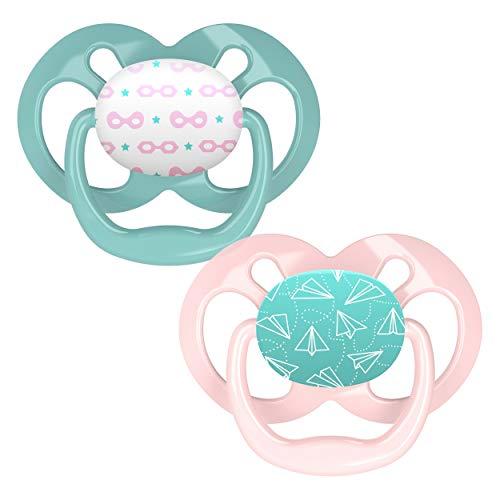 Dr. Browns soother fase 2 Voordeel2 stuks roze/mint groen