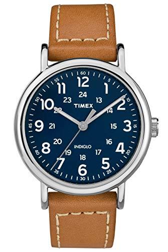 Timex Orologio Analogico Quarzo Unisex Adulto con Cinturino in Pelle...