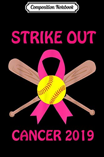 Composition Notebook: Softball Players Pink Ribbon Breast Cancer Awareness  Journal/Notebook Blank Lined Ruled 6x9 100 Pages