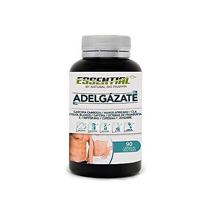 Potente Adelgazante, Quemagrasas y Reductor del Apetito | Acción adelgazante 3 en 1 100% eficaz | Estimulante del Metabolismo | Pierde peso rápida y naturalmente | 90 Cápsulas.