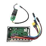 JINJUANYAO Tablero de Control de la Placa de Control del Scooter eléctrico Dashboard Panel de despacho de Repuesto de Las Piezas Encajar for Ninebot MAX g30 (Color : Black)