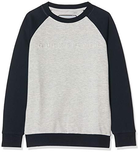 Quiksilver Jungen Sweatshirt Berry Patch - Sweatshirt für Jungen 8-16, Light Grey Heather, S/10, EQBFT03534