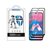 (2 Pack) CaptainShld for Samsung Galaxy A20 Tempered Glass Screen Protector, (Full Screen Coverage) Anti Scratch, Bubble Free (Black)