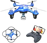 Mini Drone with Camera,WiFi FPV Quadcopter with HD Camera,Selfie Pocket Drone for Kids and Beginner, with WiFi Transmission,Gravity Sensor and One Key Take Off/Landing(AT-96)