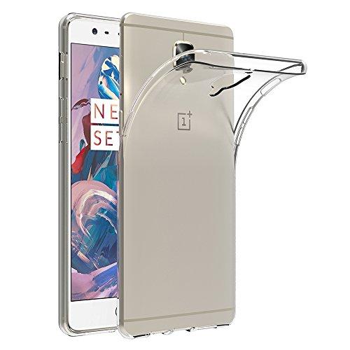 AICEK Cover per OnePlus 3 / OnePlus 3T, Cover OnePlus 3 Silicone Case Molle di TPU Trasparente Sottile Custodia per OnePlus 3/OnePlus 3T