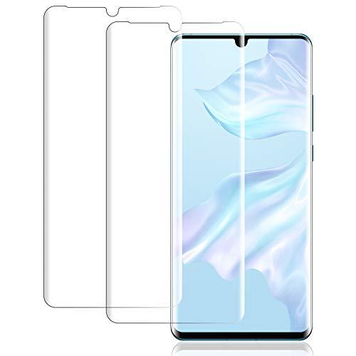 IceboyHHH 2 Pièces Verre Trempé pour Huawei P30 Pro, Haute Qualité 3D Incurvé Couverture Complète Dureté 9H, Sans Bulles, Film de Protection d'Écran pour Huawei P30 Pro
