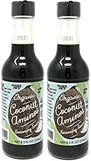 Trader Joe's Organic Coconut Aminos Seasoning Sauce 8.5 oz Bottle Sauce - 2-Pack!