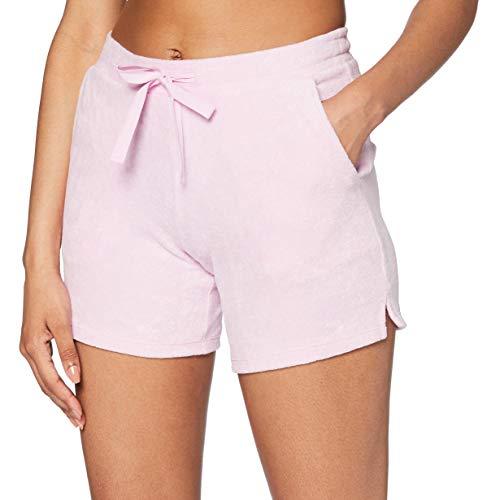 Schiesser Damen Mix & Relax Frotteeshorts Schlafanzughose, Rot (pink 504), 38 (Herstellergröße:038)