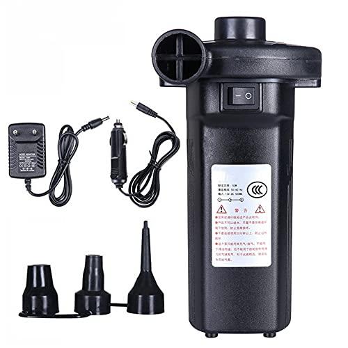 WOLHJ Bomba de Aire eléctrica Inflador 12V 240V 4500mAh Compresor de Aire Recargable Portátil para colchón de Bote de PVC Cama Inflable de la balsa de la Piscina (Color Name : EU Plug)