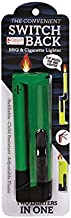 Gibson Switch Back Refillable BBQ Grill Cigarette Home Kitchen Fireplace Camping Utility Multi-Purpose Two In One Lighter. Child Resistant Adjustable Travel Size. Random Colors: Green Blue Red Yellow.