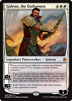 Magic  The Gathering - Gideon The Oathsworn - Foil Planeswalker Deck Exclusive - War of The Spark