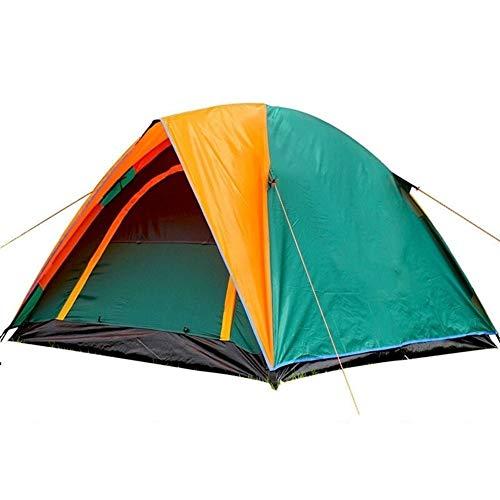 Tienda Tienda de campaña al aire libre de doble capa tienda de campaña for cualquier estación a prueba de lluvia de la puerta doble de la persona 3-4 200x180x140cm para Senderismo Camping