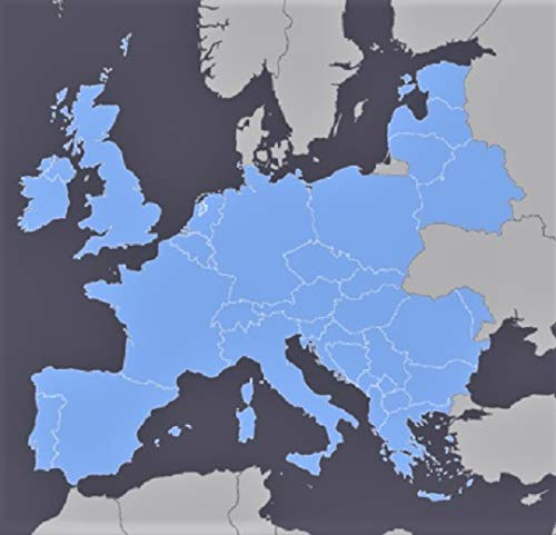 Europe GPS Map 2021 for Garmin Devices on microSD