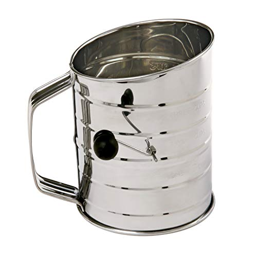 Stainless Steel Crank Flour Sifter Cup