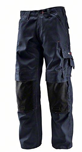 Bosch Professional Hose mit Knietaschen WKT 010, W38 L32, blau, Gr. 54, Bundweite 98cm, Beinlänge 82cm