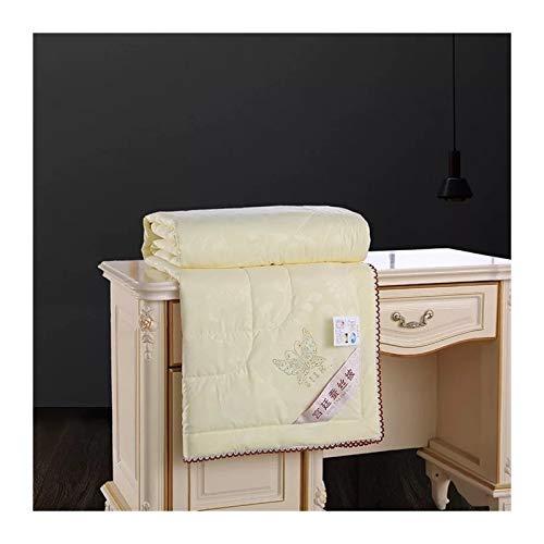 Without Silk Steppdecken Bettdecke 200 * 230 Queen voller Twin-Size-Winter Sommerdecke (Color : Cream, Size : 200x230cm 2kg)