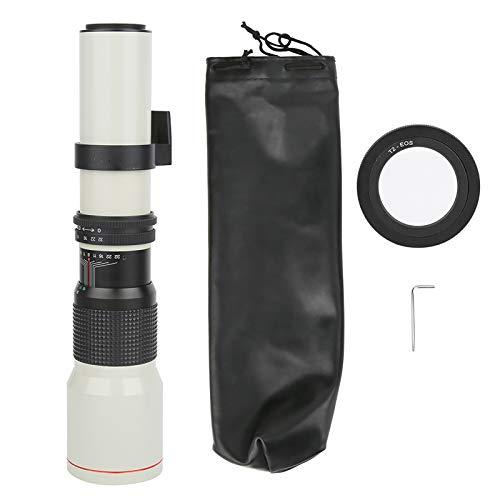 Super teleobiettivo con Zoom Manuale, Lunghezza focale 500 mm F8-F32 Obiettivo con Messa a Fuoco Manuale teleobiettivo con focale Fissa per Fotocamera Canon con Attacco EF-S